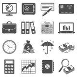 Iconos de las finanzas y del negocio Fotografía de archivo libre de regalías
