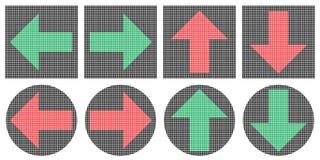 Iconos de las flechas del pixel Imagen de archivo libre de regalías