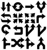 Iconos de las flechas fijados Imágenes de archivo libres de regalías