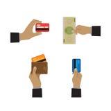 Iconos de las formas de pago Imagenes de archivo