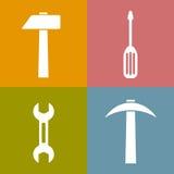 Iconos de las herramientas de funcionamiento Fotografía de archivo libre de regalías