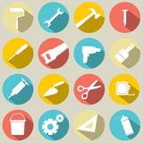 Iconos de las herramientas de funcionamiento Imagen de archivo