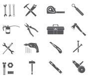 Iconos de las herramientas fijados Imagen de archivo libre de regalías