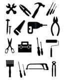 Iconos de las herramientas fijados Foto de archivo libre de regalías