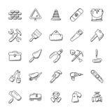Iconos de las herramientas de la construcción fijados libre illustration