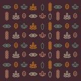 Iconos de las hierbas Imagen de archivo