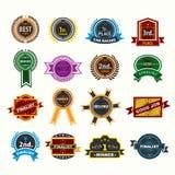 Iconos de las insignias del premio fijados Imagen de archivo