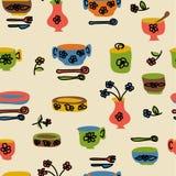Iconos de las mercancías y de los utensilios de la cocina Imágenes de archivo libres de regalías