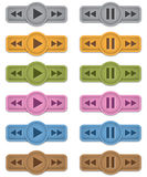 Iconos de las multimedias Imágenes de archivo libres de regalías