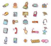 Iconos de las multimedias del web fijados - ejemplo del vector Imagen de archivo libre de regalías