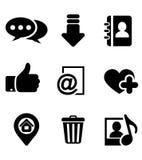 Iconos de las multimedias fijados Fotos de archivo libres de regalías