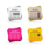 Iconos de las noticias Fotografía de archivo libre de regalías