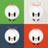 Iconos de las ovejas de la Navidad stock de ilustración