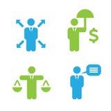 Iconos de las políticas de negocio Fotografía de archivo libre de regalías