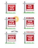 Iconos de las propiedades inmobiliarias Imágenes de archivo libres de regalías