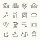 Iconos 2 de las propiedades inmobiliarias ilustración del vector