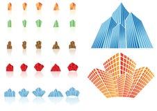 Iconos de las propiedades inmobiliarias del vector Imágenes de archivo libres de regalías