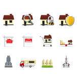 Iconos de las propiedades inmobiliarias, parte 1 Imagenes de archivo