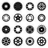Iconos de las ruedas de engranaje fijados stock de ilustración