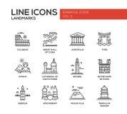 Iconos de las señales del mundo fijados Foto de archivo libre de regalías