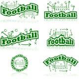 Iconos de las táctica del fútbol stock de ilustración