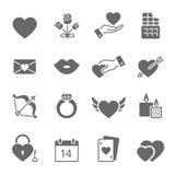 Iconos de las tarjetas del día de San Valentín libre illustration