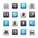 Iconos de las telecomunicaciones, Matte Series Foto de archivo libre de regalías