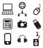 Iconos de las TIC Fotografía de archivo libre de regalías