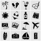 Iconos de las vacaciones Imagen de archivo libre de regalías