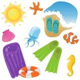Iconos de las vacaciones Imagenes de archivo