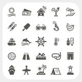 Iconos de las vacaciones de verano fijados Fotografía de archivo