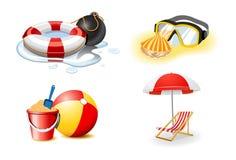 Iconos de las vacaciones y del día de fiesta Imagenes de archivo