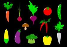Iconos de las verduras Fotos de archivo libres de regalías