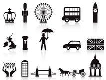 Iconos de Londres fijados Fotos de archivo libres de regalías