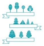 Iconos de los árboles Imagen de archivo