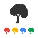 Iconos de los árboles Estilo plano del diseño Fotos de archivo