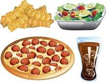 Iconos de los alimentos de preparación rápida Foto de archivo libre de regalías