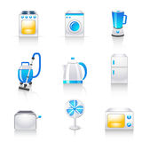 Iconos de los aparatos electrodomésticos Imagenes de archivo