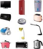 Iconos de los aparatos electrodomésticos Imagen de archivo libre de regalías