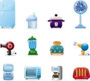 Iconos de los aparatos electrodomésticos Fotografía de archivo