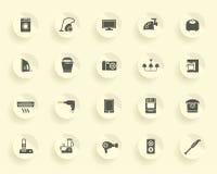 Iconos de los aparatos electrodomésticos Imagen de archivo