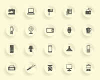 Iconos de los aparatos electrodomésticos Foto de archivo