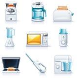 Iconos de los aparatos electrodomésticos del vector. Parte 1 stock de ilustración