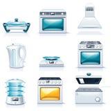 Iconos de los aparatos electrodomésticos del vector. Parte 2 ilustración del vector