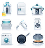 Iconos de los aparatos electrodomésticos del vector. Parte 3 stock de ilustración