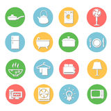 Iconos de los aparatos electrodomésticos fijados Foto de archivo libre de regalías