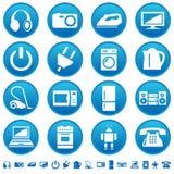 Iconos de los aparatos electrodomésticos Fotografía de archivo libre de regalías