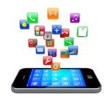 Iconos de los apps de Smartphone stock de ilustración