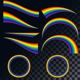 Iconos de los arco iris fijados Ejemplo EPS 10 Foto de archivo