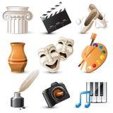 Iconos de los artes Imagen de archivo libre de regalías